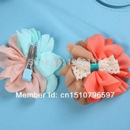 Wholesale 2pcsLovely Kids Baby Pin Girls Flower Bowknot Headwear Hair Clip Hair Wear Headdress