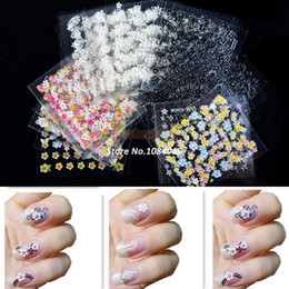 Wholesale 2014 Hot Selling Sheet x D Design Tip Nail Art Sticker Decal Manicure Mix Color Flower