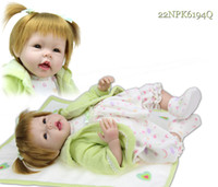 "Unisex Birth-12 months Vinyl 22"" 50cm Cute Reborn Baby girl Doll silicone Vinyl hand-rooted hair can be washed lifelike baby toys"