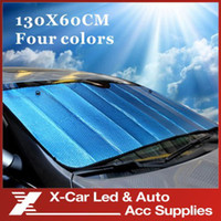 Wholesale colorful Foldable Car Auto Silvery aluminum foil Front Rear Windshield Sunshade Sun Shade cm