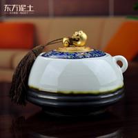 Cheap Ceramics Creative home craft deskt Best Oriental soil D09-05B auspicious storage tank Ceramic ornaments