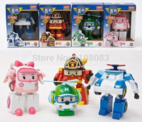 Boys age Robots 24 PCS Robocar poli 2.2''-4'' deformation car bubble South Korea Thomas toys mix robocar police car fire trucks ambulance