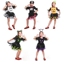 Wholesale Kids Cosplay Costume Polyester And Mesh Fabric Girls Cosplay Dress Short Sleeves Kids Halloween Costume Knee Length