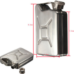 Wholesale Mini oz Stainless Steel Hip Flask Liquor Whiskey Alcohol Fuel Gas Gasoline Can