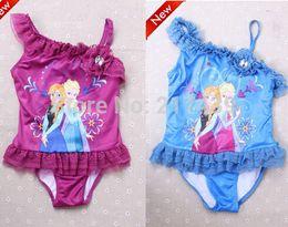 Wholesale FROZEN Elsa Anna girl girls summer swimwear swimmer bather swimsuit tutu dress togs
