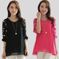 Cheap V-Neck Blouses & Shirts Best Regular Acetate Cheap Blouses & Shirts