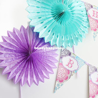 Wholesale 40cm snowflake paper fan party supplies birthday party wedding wedding marriage room decorated home garland