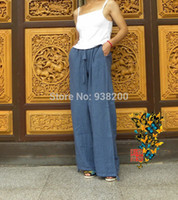 Wholesale New spring and summer Tie dyeing casual trousers fluid wide leg pants loose Cotton yoga pants girls bloomers