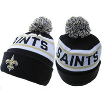 Wholesale Saints Beanies Football Caps Cheap Beanie Hats Womens Mens Skullcaps Sports Team Knitted Hats New Design Caps High Quality Beanies Mix Order