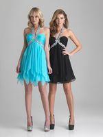 Chiffon handkerchief dresses - Short Flowy Chiffon Empire Waist Homecoming Party Dresses Beaded Halter Neckline Handkerchief Skirt Plus Size Prom Event Gowns Cute