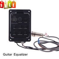 Wholesale Fishman Band EQ Equalizer Acoustic Guitar Preamp Piezo Pickup LED Tuner I449