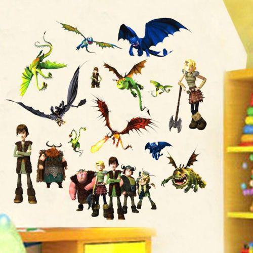 Cartoon How to Train Your Dragon 2 Wall Sticker Vinyl Art Kids Room Decals  70*