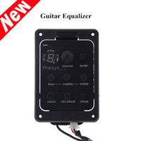 Wholesale Fishman Band EQ Equalizer Acoustic Guitar Preamp Piezo Pickup LED Tuner with Mic Beat Board I450