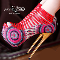 Women Pumps Spring and Fall Wholesale-Open Toe High Heels Women Platform Wedges Pumps Brand Design Less Red Bottom High Heels Sandals Shoes Woman party nightclub