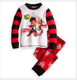 Wholesale new quot Caluby quot Boys Girls autumn summer Lycra Pajamas Children Clothing sets red pirate boy Pyjamas X