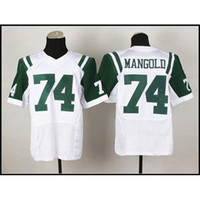 Wholesale Football Jerseys Nick Mangold Elite White Top Quality American Football Player Jersey Custom Football Jerseys New Season All Teams