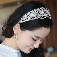 Wholesale Factory Express Factory Price Hair Accessories Lace Embroidery Hoop America Brimmed Lace Flower Hair Band Headband
