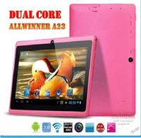 Wholesale Freeshipping DHL Q88 quot Inch Android A13 Tablet PC Dual Camera GB MB Capacitive Pink Black White Tablet Gift For Chrismas Day