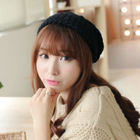 Wholesale Korean version of the hat lady winter thick winter wool hat Baotou octagonal cap knitted hat ear warm fashion