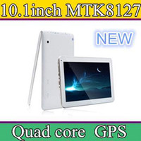 "Android 4.4 8GB 1GB 10 Inch MTK8127 Quad Core Tablet PC GPS Bluetooth HDMI 8GB 10.1"" 1024*600 px screen Android 4.4 FM Radio Cheap China Tablet Free DHL A3"
