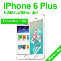 bags protective film - HD Clear Matte Silver Drill Protective Film Back and Front Screen Protector Film For iPhone Plus S With Retail Bag MOQ100pcs