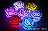 Wholesale New arrive Changeable Color LED Rose Flower Candle lights roses love lamp