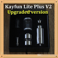 Replaceable 5ML Metal Kayfun Lite Plus V2 Upgraded version Atomizer 2014 Newest Stainless Steel Atomizer All Kanfun Series Combines the Atomizer DHL Free