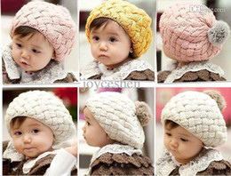 Wholesale PC Hot New Fashion Cute Baby Kids Girls Boys Toddler Knitted Crochet Beanie Hat Cap Colors