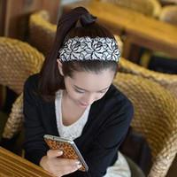 Headbands embroidery hoops - Fashion Fashion Jewelry Hair Accessories Headdress Lace Embroidery Hoop Wide Cloth Headband