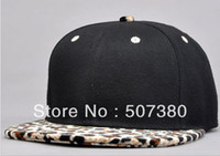 Wholesale Blank Snapback Baseball Caps Flannelette Leopard Brim Hats Adjustable Hat Punk Style Winter Hiphop Cap B BOY Headwear GCS12003