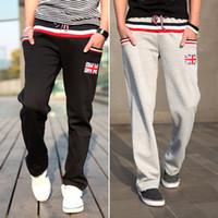 Wholesale 2014 autumn new men s casual pants the color of the Union Jack colors hit Korean casual trousers pants black
