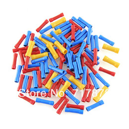 Wholesale 100X Intermidiate Insulated Cable Wire Butt Connector Electrical Crimp Terminals