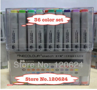 Wholesale 36 color pen paint drawing markers for art EF100 Finecolour Sketch Marker pen gift Copic Marker manga Supplies brushing