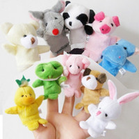Cheap 10pc Novelty Items Finger Puppet Doll Baby Children Kids Toys Animal Cartoon Story Telling Cheap On Sale Set Free Shipping Multi