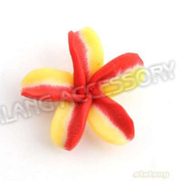 Wholesale New Style Red Yellow Redbud Flower Polymer Clay Fashion Beads Charms Fit Bracelet Necklace DIY x20x8mm