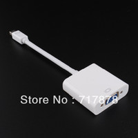 Wholesale 10 Portable Display Port DP to VGA Cable Adapter for Apple Macbook Air Pro Laptop
