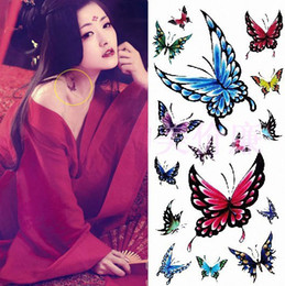 Wholesale Butterfly flower tattoo stickers affixed waterproof butterfly costume sexy woman must have dish Red Square Jalan flower stickers