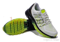 Wholesale 2015 New Arrival Lime Max Running Shoes Store Mens Tennis Sneakers Athletics Shoes Online Store Sports Shoes Mix Orders Fluorescent Green
