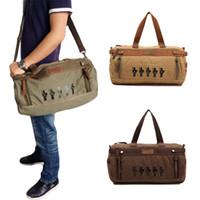 duffel bag - Top Quality Men Canvas duffel bag Large Capacity Travelling Luggage Bag bolsas Satchel Shoulder Bag bolsa travel duffle H11736