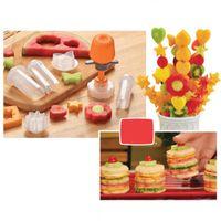 fruit cutter - New Creative Plastic Cooking Tools Fruit Shape Cutter Slicer Veggie Food Decorator Fruit Cutter Kitchen Accessories H11742