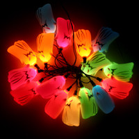 halloween decorations - Festival Bar Haunted House Party Decoration New Colorful Scary Ghost String Flash Light Style Halloween Lamp Bulb H11828