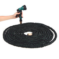 Wholesale Mangueira Jardim Flower Planters Watering FT Flexible X Expandable Garden Magic Latex Water Hose Pipe Spray Nozzle Valve H11297
