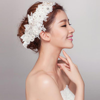 Cheap Other Type Bridal Hair Accessories Best Rhinestone/Crystal  Beaded Lace Headwear