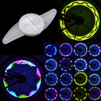 Wholesale Colorful RGB LED Patterns Wheel Light Mountain Road MTB Bicycle Bike Cycling Spoke Double Sided Lamp H10991