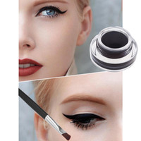 H11341 eyeliner gel - New Fashion Music Flower in Brown Black Gel Eyeliner Make Up Waterproof Cosmetics Set with Eyeliner Brushes H11341