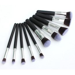 Wholesale Professional Cosmetic Facial Make up Brush Tools Wool Makeup Brushes Set Kit H10949
