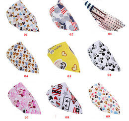 Wholesale Retails baby bandana bibs designs mixed infant saliva towel Triangle boy girls cotton Head Scarf