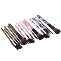 H10953 cosmetic black up - New Fashion Professional Makeup Brushes Sets Tools Soft Cosmetic Eye Make up Kit Black Brown Pink H10953