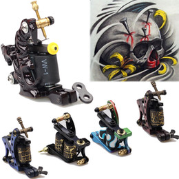 Wholesale New Pro Tattoo Machine Gun Shader Liner Wrap Coils Free Spring Multicolor beginner H10791