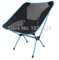 Camping Chairs Beach Chair Outdoor Furniture Wholesale-1 PC lot Ultra light outdoor barbecue camping portable folding chair fishing chair beach stool four color free shipping